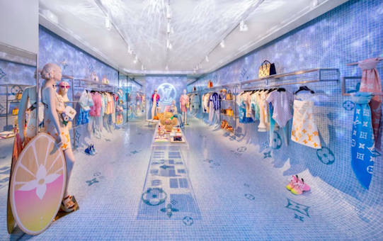 Louis Vuitton heads poolside with a SoHo pop-up, NYC - April 2021