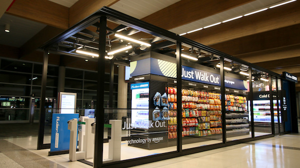 Hudson News opens a 'staff-free' store in Dallas Love Field airport. March 2021